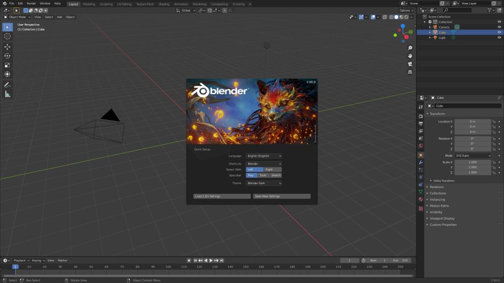 Diseño 3D Blender Interfaz gráfica